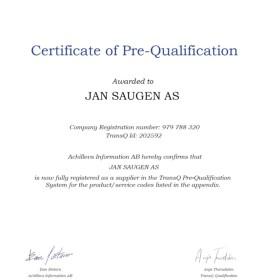 Transq-sertifikat 2018 - 2019
