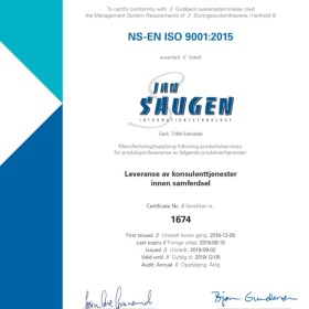 ISO9001 2015-sertifikat