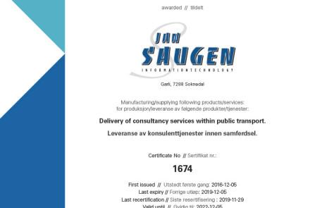 Sertifikat Jan Saugen iso9001-2015